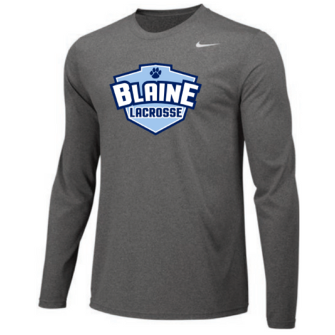 Blaine Lacrosse Men's Nike (TEAM LEGEND LS CREW) Gray
