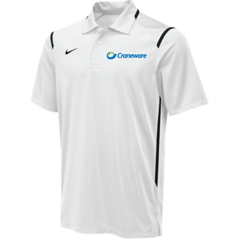 Craneware Men's Nike (TEAM M'S GAMEDAY POLO) White