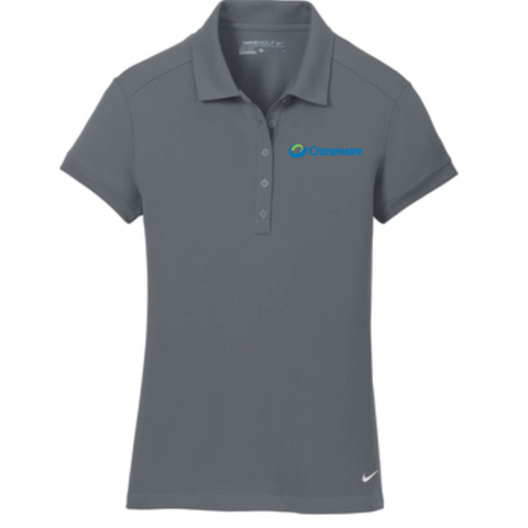 Craneware Women's Nike Golf (Dri-FIT Solid Icon Pique Modern Fit Polo) Gray