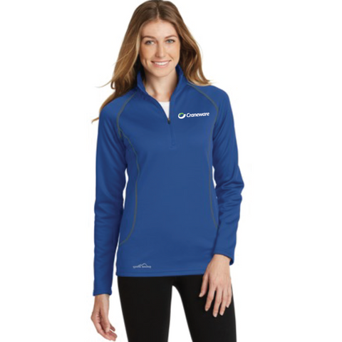 Craneware Women's Eddie Bauer (1/2-Zip Base Layer Fleece) Royal