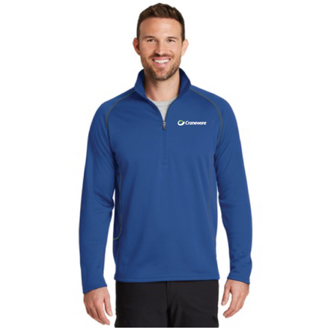 Craneware Men's Eddie Bauer (1/2-Zip Base Layer Fleece) Royal