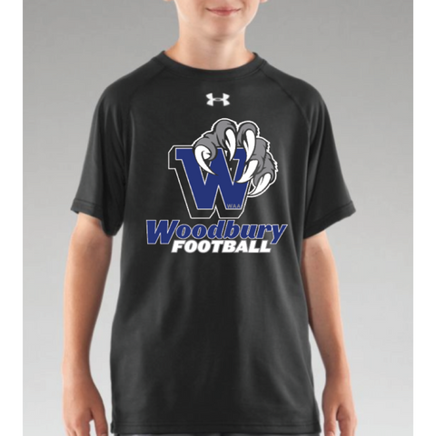 Woodbury Football Youth UA (Locker T SS) Black