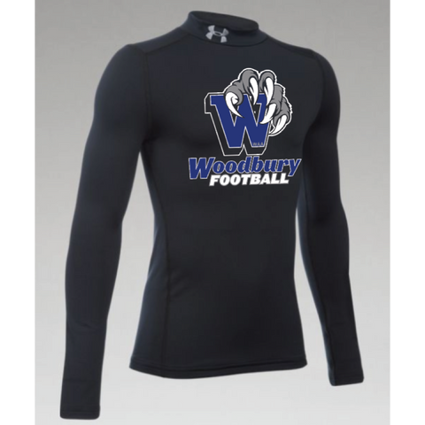 Woodbury Football Youth UA (CG Armour Mock) Black