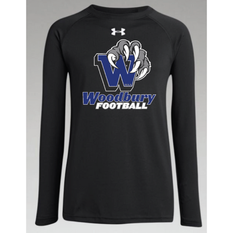 Woodbury Football Youth UA (Locker T LS) Black
