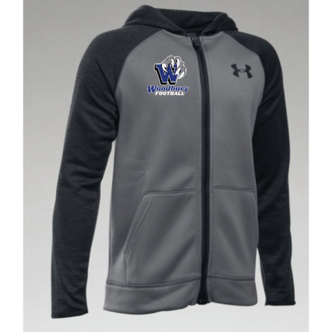 Woodbury Football Youth UA (AF Storm MagZip Hoody) Gray