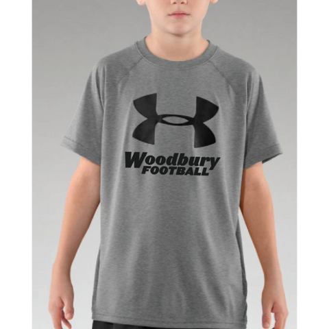 Woodbury Football Youth UA (Tech™ Big Logo T-Shirt) Gray