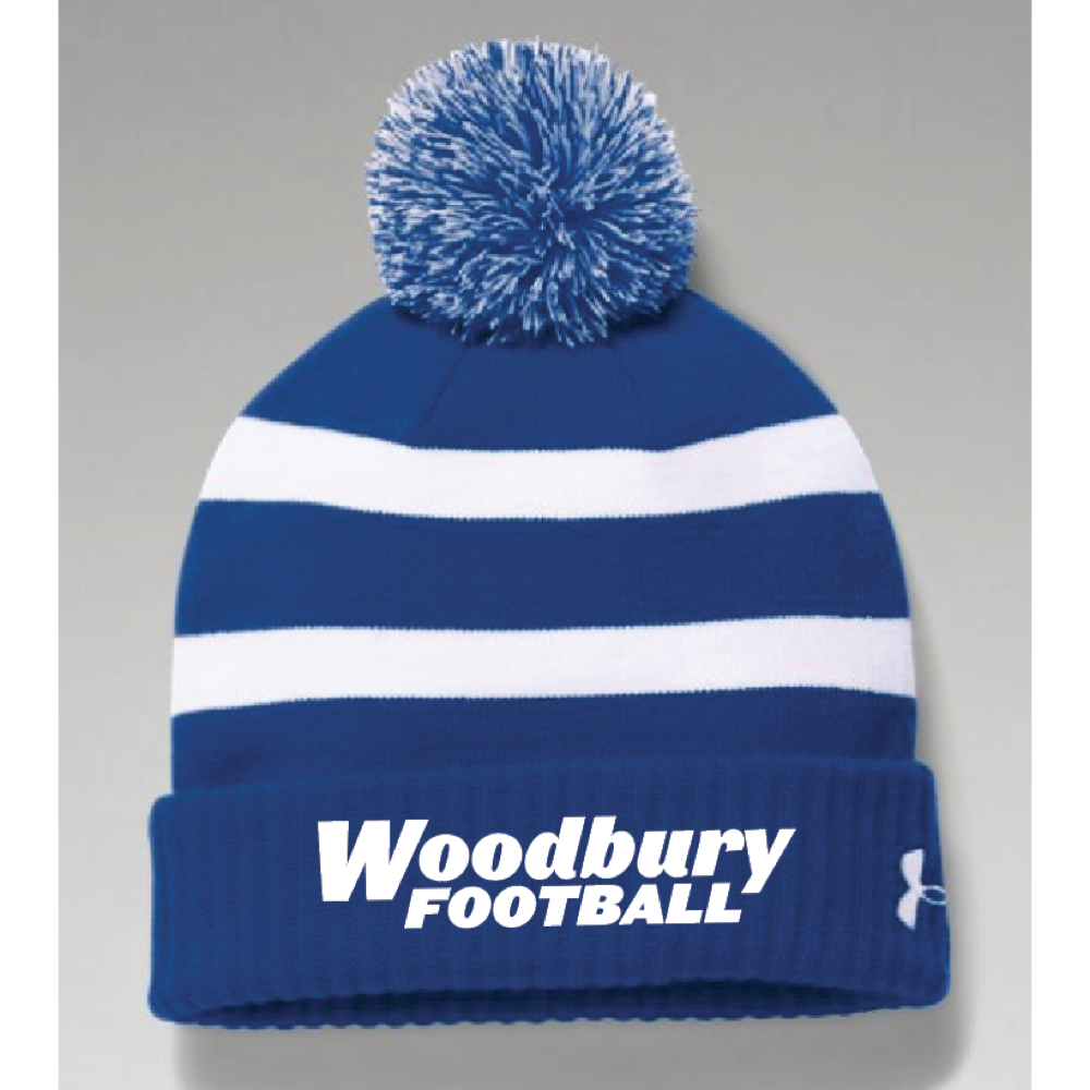 Woodbury Football Men's UA (Pom Beanie) Royal