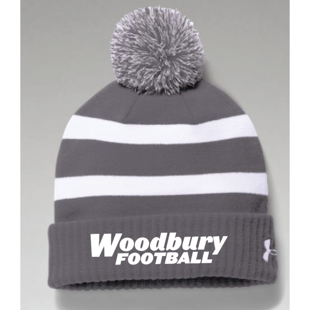 Woodbury Football Men's UA (Pom Beanie) Gray