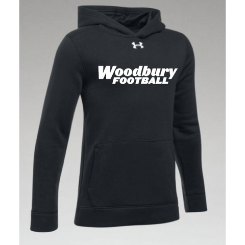Woodbury Football Youth UA (Hustle Fleece Hoody) Black