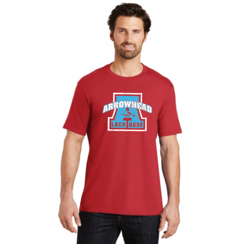 Arrowhead Lacrosse Adult District (Crew Tee) Red