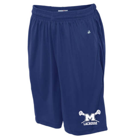 Mandeville Lacrosse Men's Badger (B-Core Pocketed Shorts) Royal