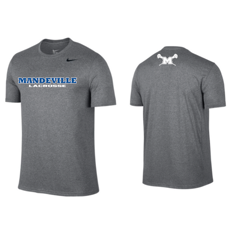 *** PLAYER ONLY*** Mandeville Lacrosse Men's Nike (Legend SS) Gray