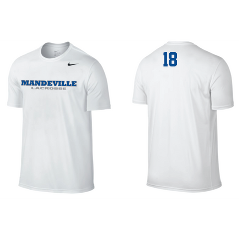 *** VARSITY PLAYER'S ONLY*** Mandeville Lacrosse Men's Nike (Legend SS) White