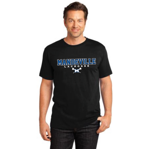 Mandeville Lacrosse Adult District (Crew Tee) Black