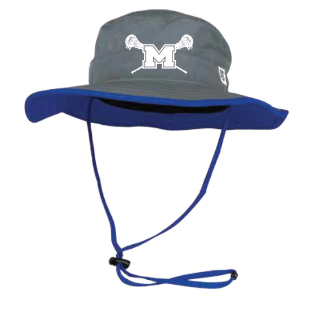 Mandeville Lacrosse The Game (Bucket Hat) Gray/Royal