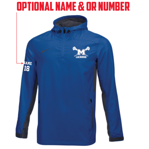Mandeville Lacrosse Adult Nike (Stock Woven 1/4 Zip Jacket) Royal