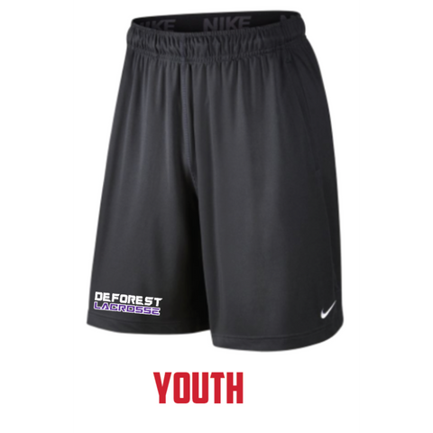 **Coach Recommended** DeForest Lacrosse Youth Nike (NK DRY SHORT FLY) Anthracite