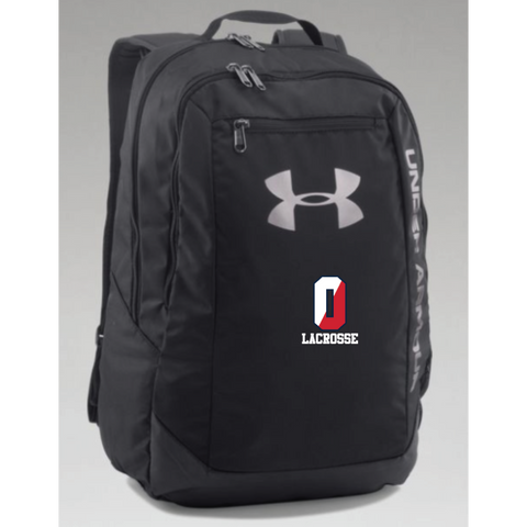 Orono Lacrosse Under Armour (Hustle Backpack LDWR) Black