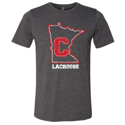 Centennial Lacrosse Unisex Next Level (Poly/Cotton Crew) Charcoal