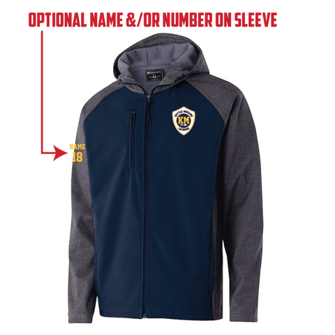 KM Lacrosse Men's Holloway (RAIDER SOFTSHELL JACKET) Navy