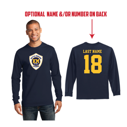 KM Lacrosse Men's Port & Company (Long Sleeve Essential Tee) Navy