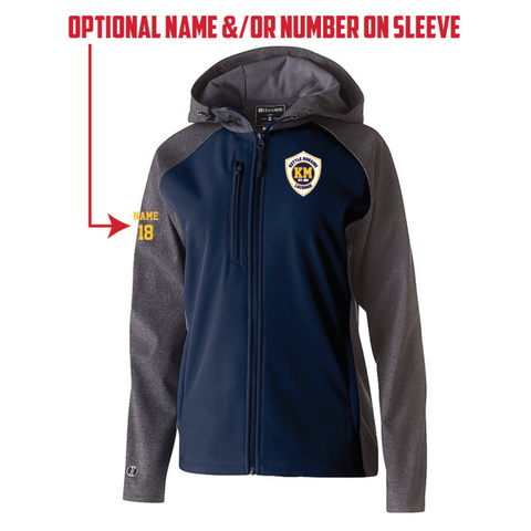 KM Lacrosse Women's Holloway (RAIDER SOFTSHELL JACKET) Navy