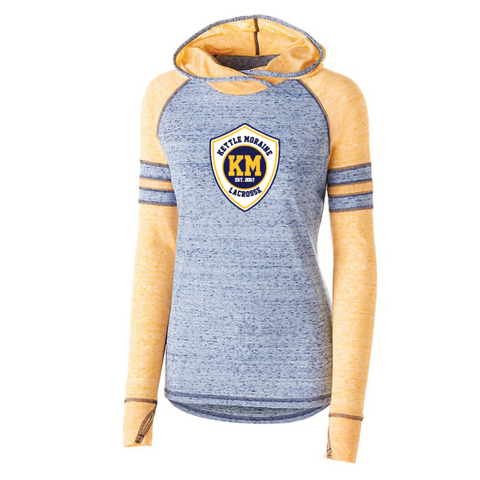 KM Lacrosse Women's Holloway (ADVOCATE HOODIE) Navy/Gold