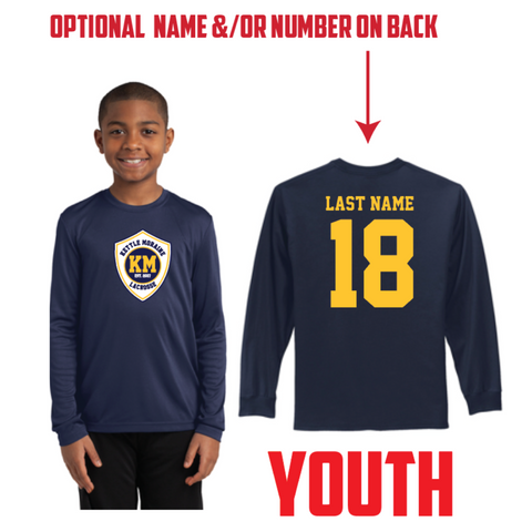 KM Lacrosse Youth Sport-Tek (Long Sleeve PosiCharge® Competitor™ Tee) Navy