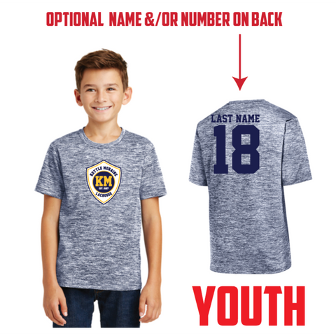 KM Lacrosse Youth Sport-Tek (PosiCharge® Electric Heather Tee) Navy