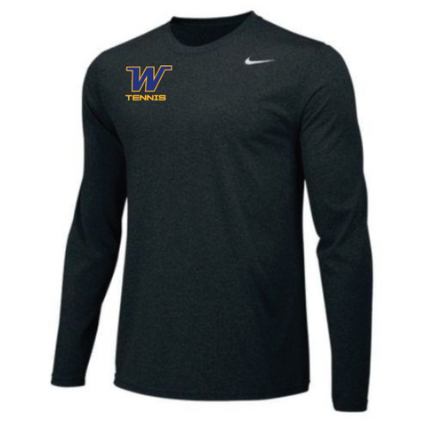 Wayzata Tennis Men's Nike (TEAM LEGEND LS CREW) Black
