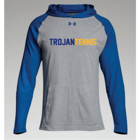 Wayzata Tennis Adult Under Armour (Stadium Hoody) Gray/Royal