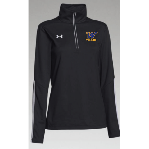 Wayzata Tennis Women's Under Armour (Qualifier 1/4 Zip) Black