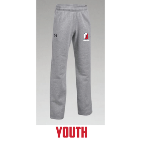 Orono Lacrosse Youth Under Armour (Hustle Fleece Pant) Gray