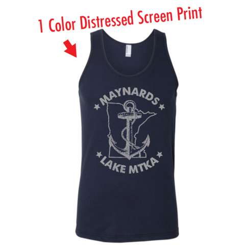 Maynards Men's American Apparel (Fine Jersey Tank) Navy