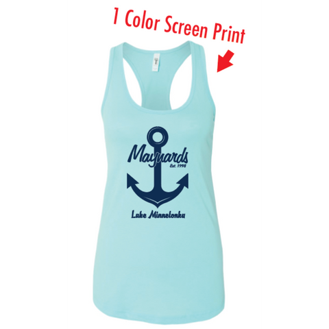 Maynards Women's (Ideal Racerback Tank) Coral Blue