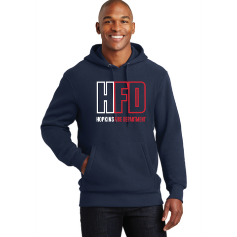Hopkins Fire Men's Sport-Tek (Super Heavyweight Pullover Hooded Sweatshirt) Navy