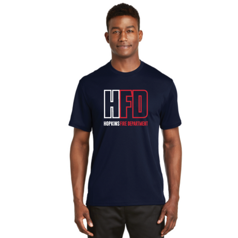 Hopkins Fire Men's Sport-Tek (Dri-Mesh® Short Sleeve T-Shirt) Navy