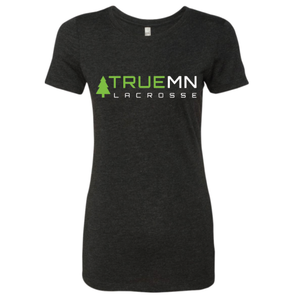 True MN Girls Lacrosse Women's Next Level (Triblend Crew) Vintage Black