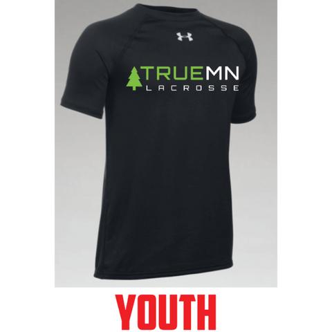True MN Lacrosse Youth Under Armour (Locker T SS) Black