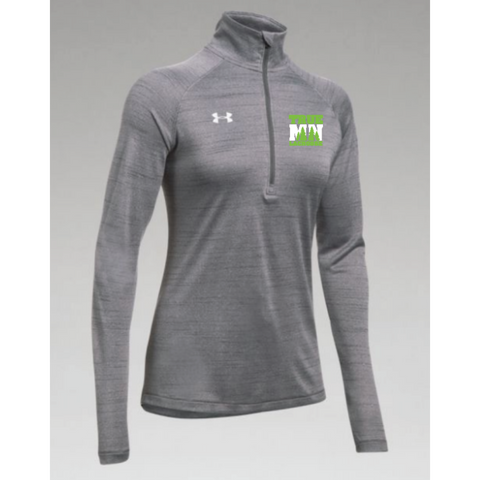 True MN Lacrosse Women's Under Armour (Stripe Tech 1/4 Zip) Gray