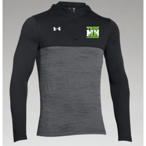 True MN Lacrosse Men's Under Armour (Tech 1/4 Zip Hoody) Black