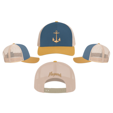 Maynards Snap Back (TRUCKER MESH) OCEAN BLUE/AMBER GOLD/BEIGE