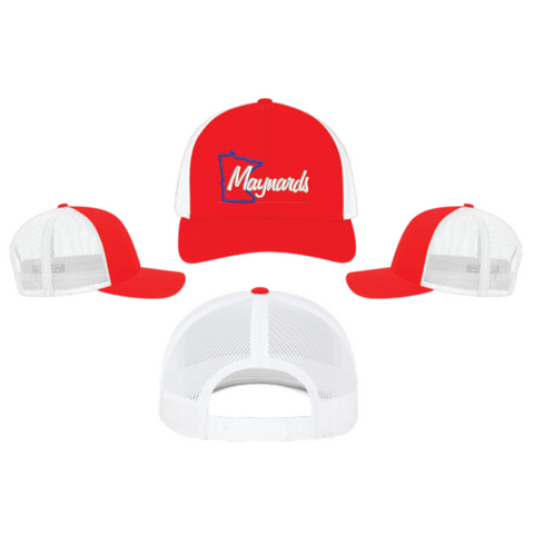 Maynards Snap Back(TRUCKER MESH) Red & White