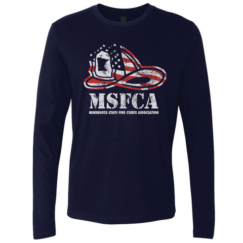 MSFCA Helmet Next Level (Premium Long Sleeve Crew) Navy