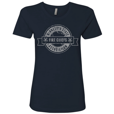 MSFCA Distressed Women's Next Level (The Boyfriend Tee) Navy