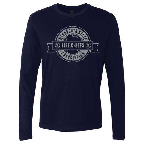 MSFCA Distressed Next Level (Premium Long Sleeve Crew) Navy