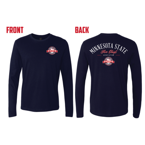 MSFCA Next Level (Premium Long Sleeve Crew) Navy