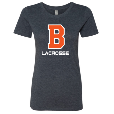 Bridgeland Lacrosse Women's Next Level (Triblend Crew) Vintage Navy