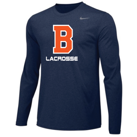 Bridgeland Lacrosse Men's Nike (TEAM LEGEND LS CREW) Navy