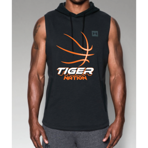 Farmington Basketball Men's Under Armour (Sportstyle Sleeveless Hoodie) Black